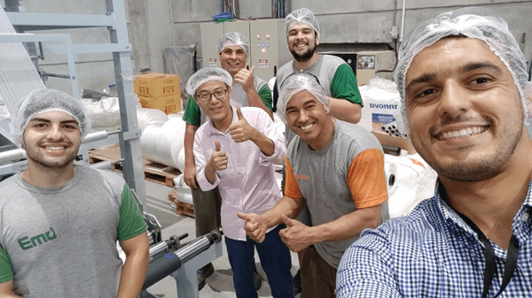 Installation and Debugging of Degradable Film Blowing Machine in Brazilian Factory